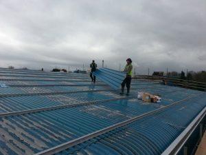 Industrial roof repairs